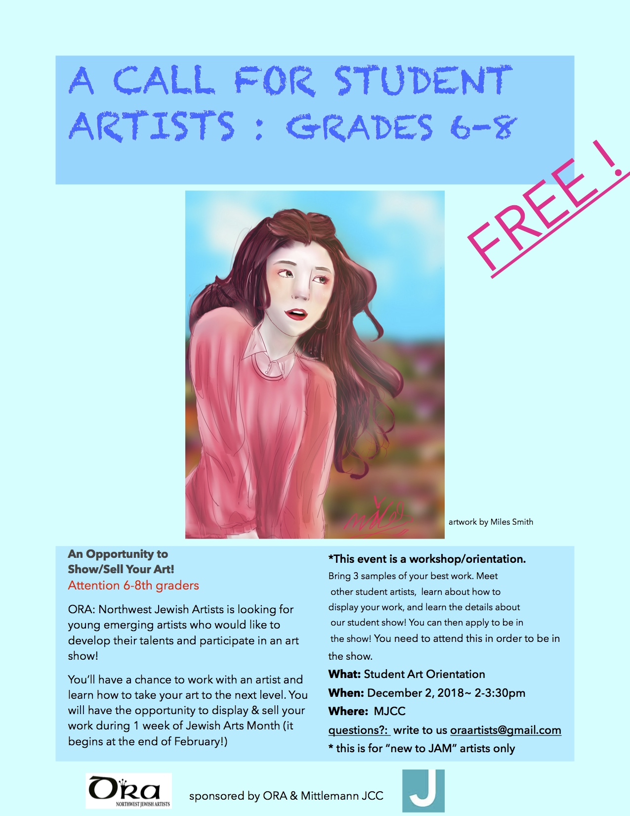 Kid's call for artists